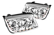 Option-R® - Chrome Projector Headlights with LEDs