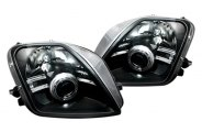 Option-R® - Black CCFL Halo Projector Headlights with LEDs