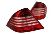 Option-R® - Red/Clear LED Tail Lights - W220