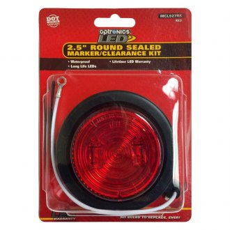 "Optronics® - FLEET Count™ 2.5"" Round Sealed LED Marker/Clearance Light"