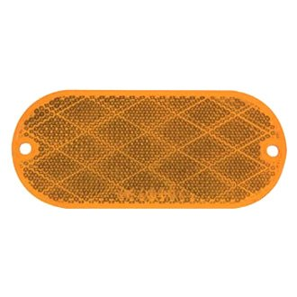 Optronics® - RE11 Series Oblong Self Adhesive/Screw Mount Yellow Reflectors