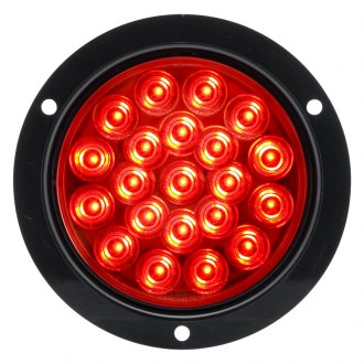 "Optronics® - STL55 Series High Count 4"" Round Red LED Sealed Light"
