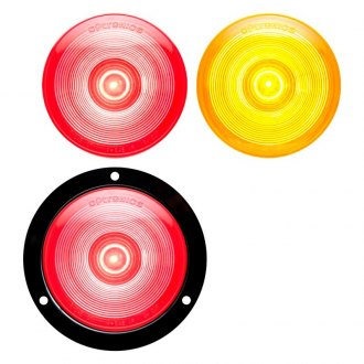 "Optronics® - STL003 Series ONE™ 4"" Chrome Red/Amber Round LED Sealed Light"