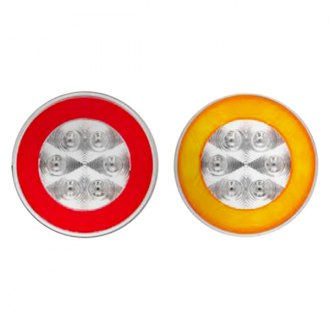 "Optronics® - STL101 Grommet Mount Series GloLight™ 4"" Chrome Red/Amber Polypack Weathertight Connection Sealed LED Light"