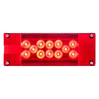Optronics® - STL16/ 17 Series Driver Side Chrome/Red LED Combination Tail Light