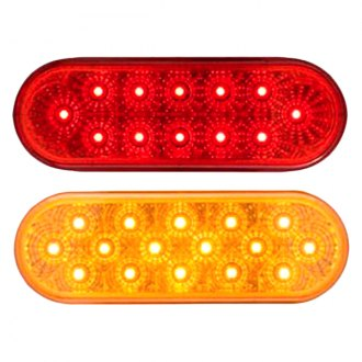 "Optronics® - STL22 Series Miro-Flex™ 6"" Chrome Red/Amber Oval LED Sealed Light"