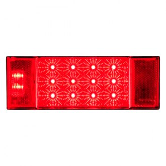 Optronics® - STL26/ 27 Series Miro-Flex™ Driver Side Chrome/Red LED Combination Tail Light