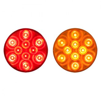 "Optronics® - STL43 Series 4"" 24V Chrome/Amber Stop/ Turn/ Tail Light"