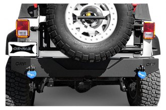OR-Fab® 83208BB - Bike Black Steel Rear Bumper