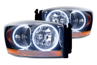 Oracle Lighting® 7033-001 - Black Headlights with White SMD LED Halos Preinstalled