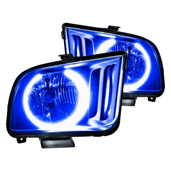 Oracle Lighting® - Black Factory Style Headlights with Blue Plasma LED Halos Preinstalled