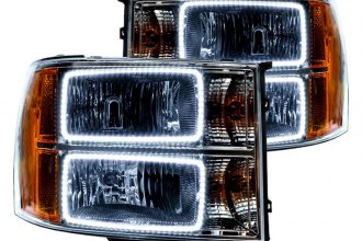 Oracle Lighting® 7054-001 - Headlights with White SMD LED Halos Preinstalled