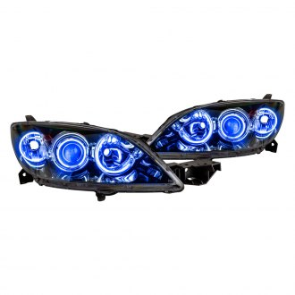 Oracle Lighting® - Chrome OE Style Projector Headlights with Blue SMD LED Halos Preinstalled