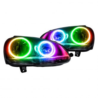 Oracle Lighting® - Black Factory Style Headlights with ColorSHIFT Halo