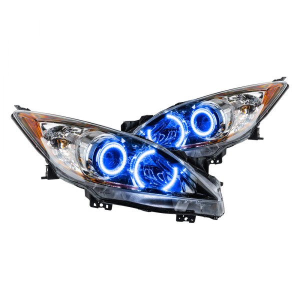 Oracle Lighting® - Chrome Factory Style Projector Headlights with Blue SMD LED Halos Preinstalled