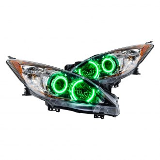 Oracle Lighting® - Chrome OE Style Projector Headlights with Green SMD LED Halos Preinstalled