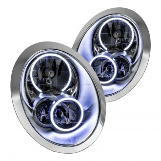 Oracle Lighting® - Chrome OE Style Headlights with White SMD LED Halos Preinstalled
