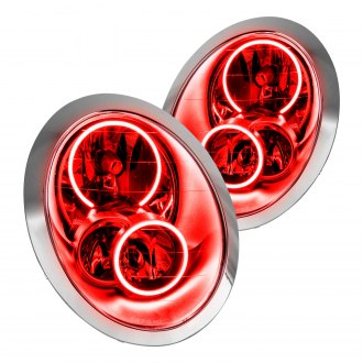 Oracle Lighting® - Chrome OE Style Headlights with Red SMD LED Halos Preinstalled