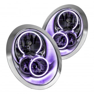 Oracle Lighting® - Chrome OE Style Headlights with UV/Purple SMD LED Halos Preinstalled