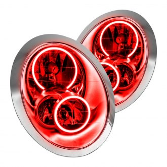 Oracle Lighting® - Chrome OE Style Headlights with Red Plasma LED Halos Preinstalled