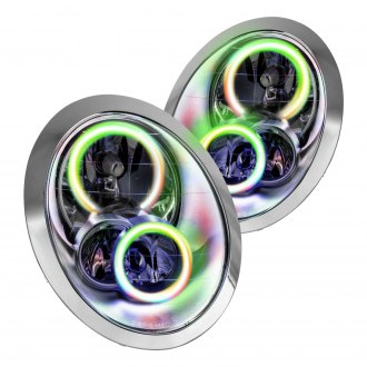Oracle Lighting® - Chrome Factory Style Headlights with ColorSHIFT-WiFi SMD LED Halos Preinstalled