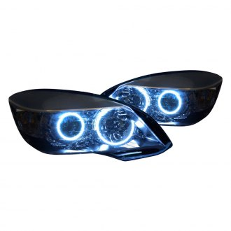 Oracle Lighting® - Black OEM Style Projector Headlights with Color Halo