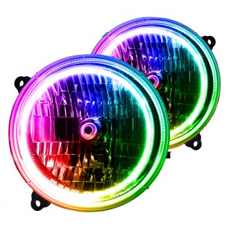 Oracle Lighting Chrome Factory Style Headlights With Colorshift Halo