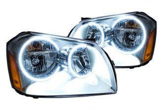 Oracle Lighting® 7156-001 - Black Headlights with White SMD LED Halos Preinstalled
