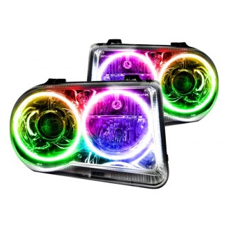 Oracle Lighting® - Chrome OEM Style Projector Headlights with Color Halo