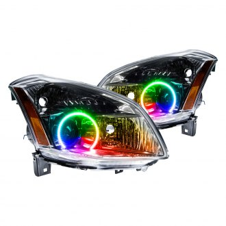 Oracle Lighting® - Chrome Factory Style Projector Headlights with ColorSHIFT Halo