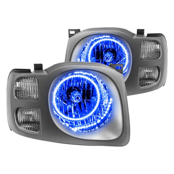 oracle lighting nissan xterra se 2002 chrome factory style headlights with color halo oracle lighting chrome factory style headlights with color halo