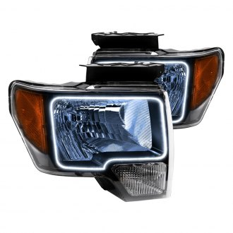 Oracle Lighting® - Black Headlights with Color Halo