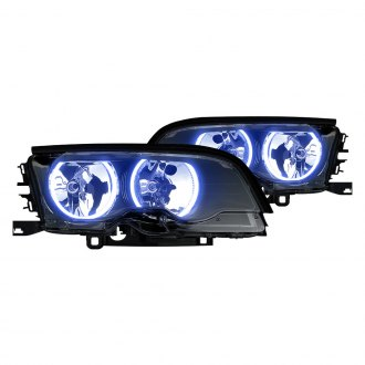 Oracle Lighting® - Black Factory Style Projector Headlights with Color Halo