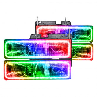 Oracle Lighting® - Chrome Factory Style Headlights with ColorSHIFT Halo