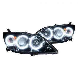Oracle Lighting® - Black OE Style Headlights with White SMD LED Halos Preinstalled