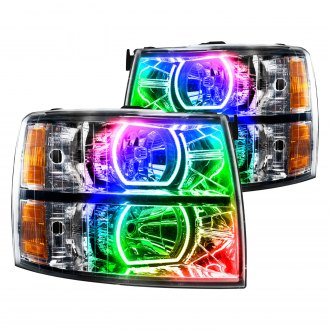 Oracle Lighting® - Chrome OEM Style Headlights with Square Ring Color Halo