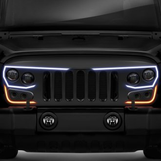 Oracle Lighting® - 1-Pc Vector™ LED Matte Black CNC Machined Main Grille