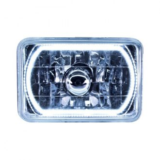 "Oracle Lighting® - 4x6"" Rectangular Chrome Factory Style Headlight with Color Halo"