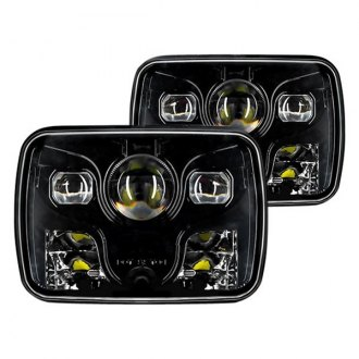 "Oracle Lighting® - 7x6"" Rectangular Black Projector LED Headlights"