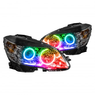 Oracle Lighting® - Black Factory Style Projector Headlights with ColorSHIFT Halo