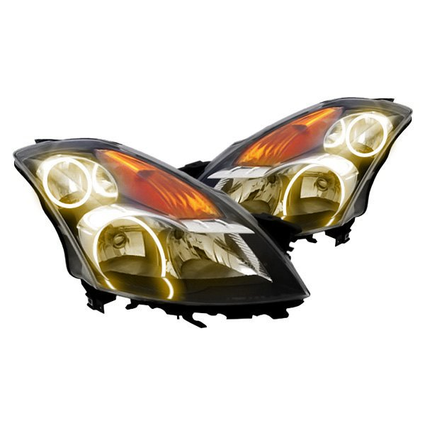 Oracle Lighting® - Black Factory Style Headlights with Amber CCFL Halos Preinstalled