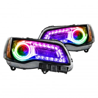 Oracle Lighting® - Black Factory Style Projector Headlights with ColorSHIFT DRL