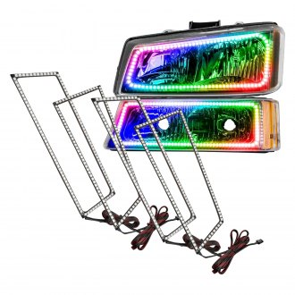 Oracle Lighting® - Color Dual Halo Kit Square Design for Headlights