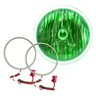 "Oracle Lighting® - 7"" SMD Waterproof Green Halo Kit for Headlights"