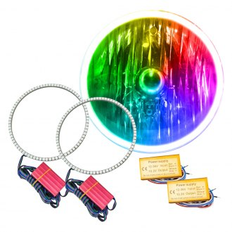 "Oracle Lighting® - 7"" SMD Waterproof ColorSHIFT 2.0 Halo Kit for Headlights"