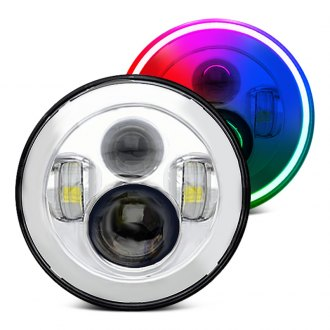 "Oracle Lighting® - 7"" Round Full LED Color Halo Projector Headlights"