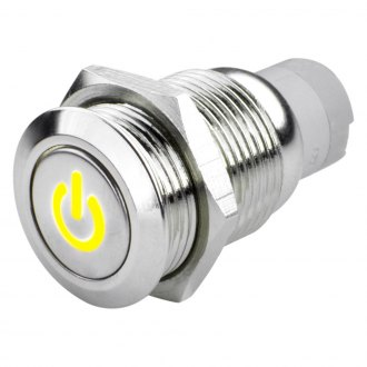 Oracle Lighting® - Yellow Power Symbol Flush Mount LED Switch