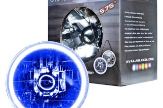 "Oracle Lighting® - 5 3/4"" Round Chrome Factory Style Headlight with Blue Plasma Halos Preinstalled"