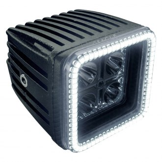 "Oracle Lighting® - Waterproof 3"" 20W Square Spot Beam LED Light with Squared Halo"