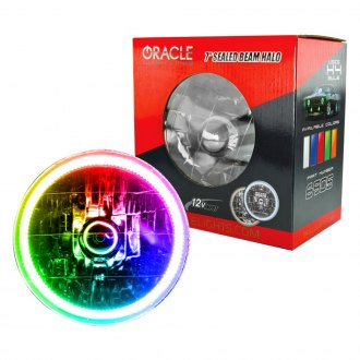 "Oracle Lighting® - 5 3/4"" Round Chrome Factory Style Headlight with Color Halo"